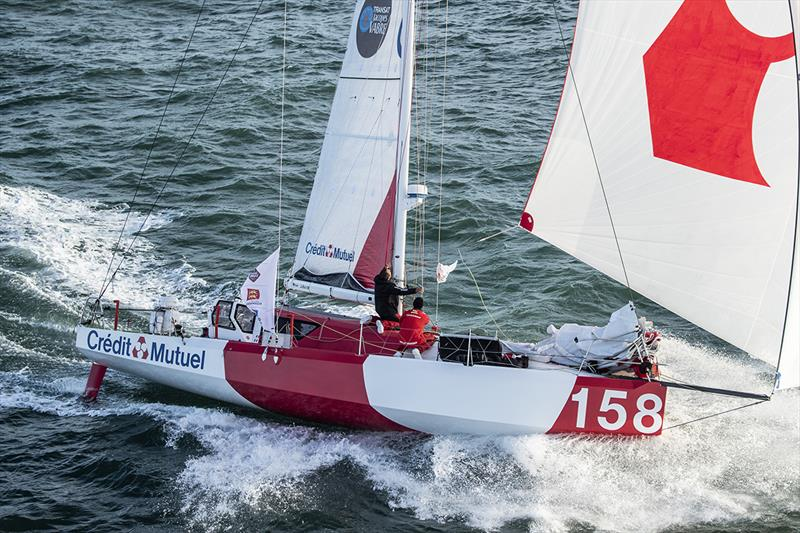 Mutuel is competing during the Transat Jacques Vabre , duo sailing race from Le Havre, France, to Salvador de Bahia, Brazil, on October 27, in Le Havre, France - photo © Alea