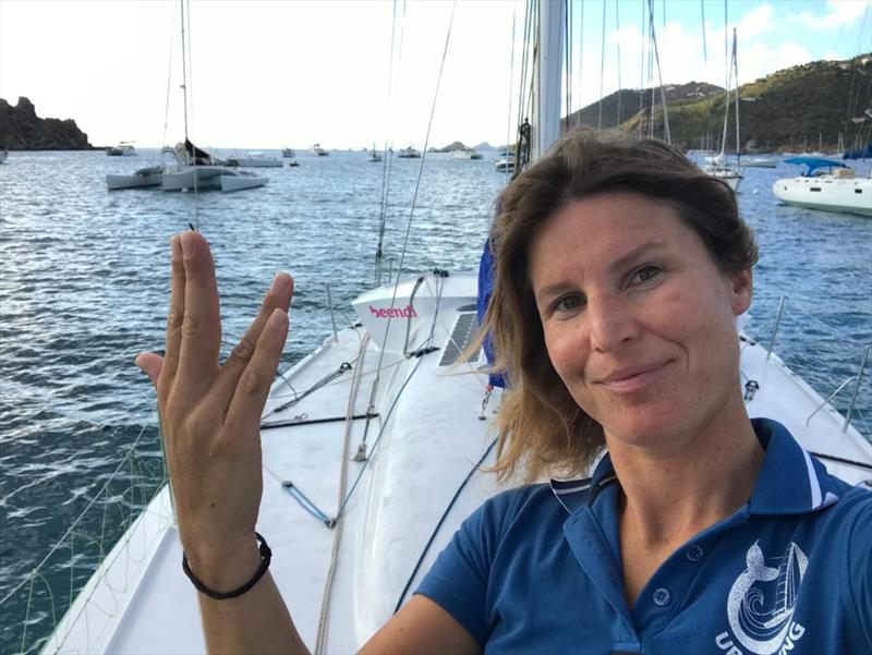 Morgane Ursault-Poupon, skipper of `UP SAILING, unis pour la planète` in the 2020 Pure Ocean Challenge - photo © Image courtesty of the 2020 Pure Ocean Challenge