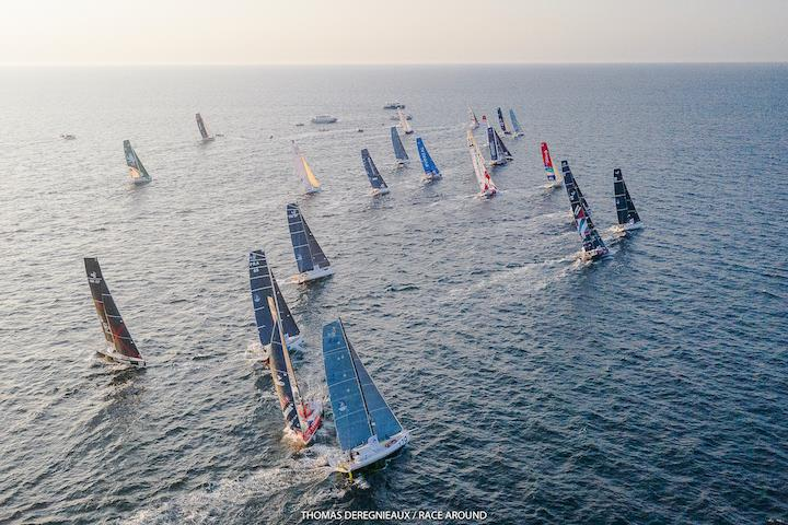 Class 40 racing action - photo © Image courtesy of The Race Around/Thomas Deregnieaux