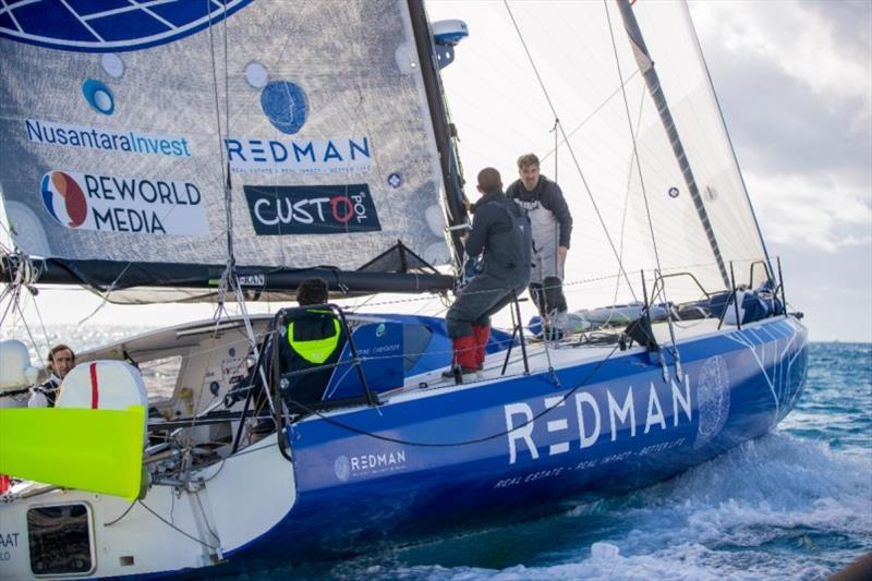 Antoine Carpentier and team on the Class40 Redman have resolved their starboard rudder problem - RORC Transatlantic Race - photo © James Mitchell / RORC