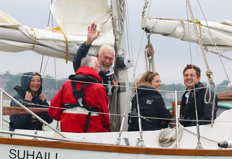 Sir Robin Knox-Johnston on Suhaili for the opening day of Southampton Sailing Week - photo © Andrew Sassoli-Walker