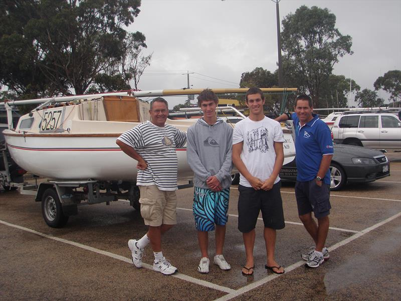 Continuing 50 years of family tradition - Glenn Dyer, Mitch Dyer, Michael Walsh (nephew) and Darryn after the 2010 Marlay Point Overnight Race. - photo © Lake Wellington Yacht Club