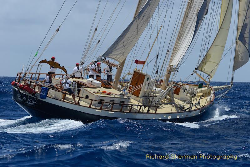The sail-training schooner Ocean Star - 2018 Antigua Classic Yacht Regatta - Day 4 - photo © Richard Sherman