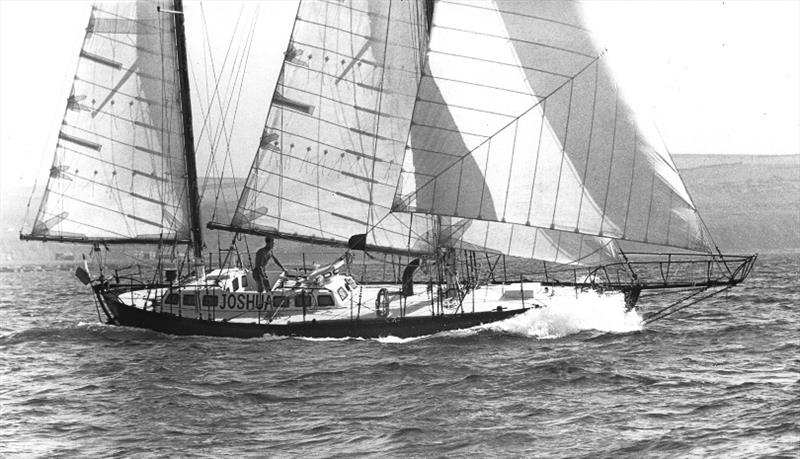 Circa 1968:  Bernard Moitessier sailing JOSHUA during the first Sunday Times Golden Globe Race photo copyright Ian Dear Archive / PPL taken at  and featuring the Classic Yachts class