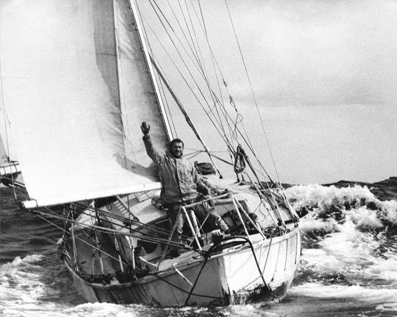 Circa 1969: Sir Robin Knox-Johnston returning to Falmouth UK to win the Sunday Times Golden Globe Race and become the first man to sail solo non-stop around the Globe - photo © Bill Rowntree / PPL