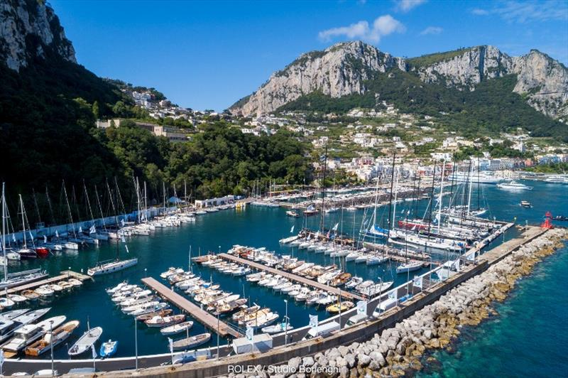 The Marina at Capri's Marina Grande where the schooners will be moored.  photo copyright ROLEX / Studio Borlenghi taken at Yacht Club Capri and featuring the Classic Yachts class