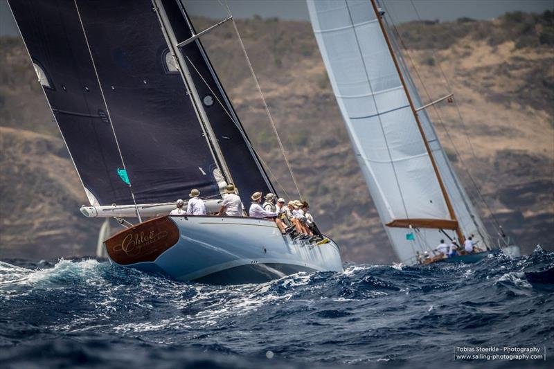 In the Spirit of Tradition Class, the Spirit 64.5' Chloe Giselle won their second race - Antigua Classics Yacht Regatta - photo © Tobias Stoerkle