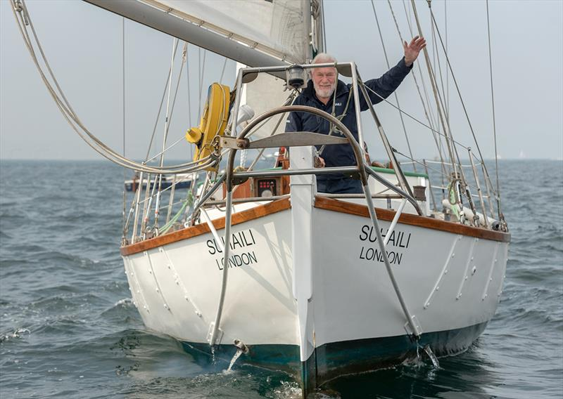 Sir Robin Knox-Johnston celebrates his 50th anniversary of becoming the first person to sail solo and non-stop around the world - photo © Shaun Roster