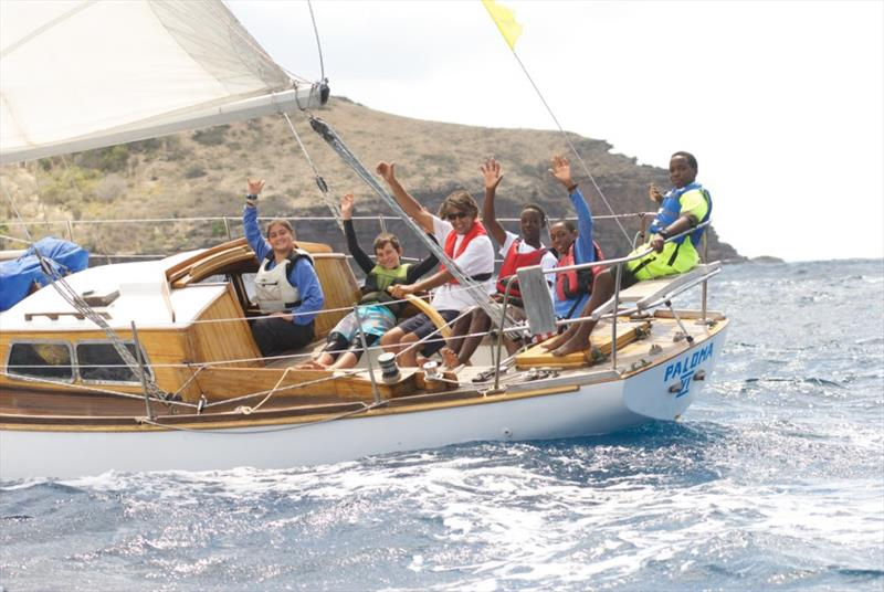 Paloma VI earned the Woodstock Trophy for best restoration - Antigua Classic Yacht Regatta 2019 photo copyright Ed Gifford  taken at Antigua Yacht Club and featuring the Classic Yachts class