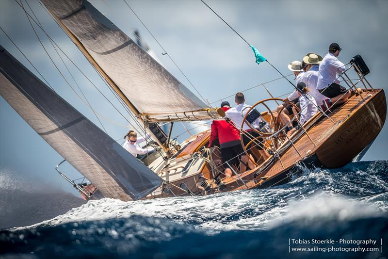 Spirit of Tradition 49' Blackfish was bestowed with the Best Dressed prize  - Antigua Classic Yacht Regatta 2019 - photo © Tobias Stoerkle