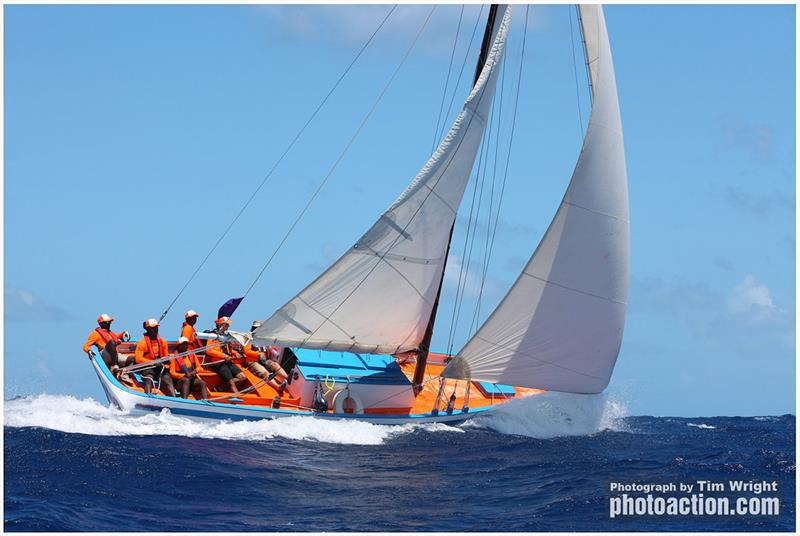 Carriacou sloop 32' New Moon claimed The John Leader Trophy  - Antigua Classic Yacht Regatta 2019 - photo © Tim Wright