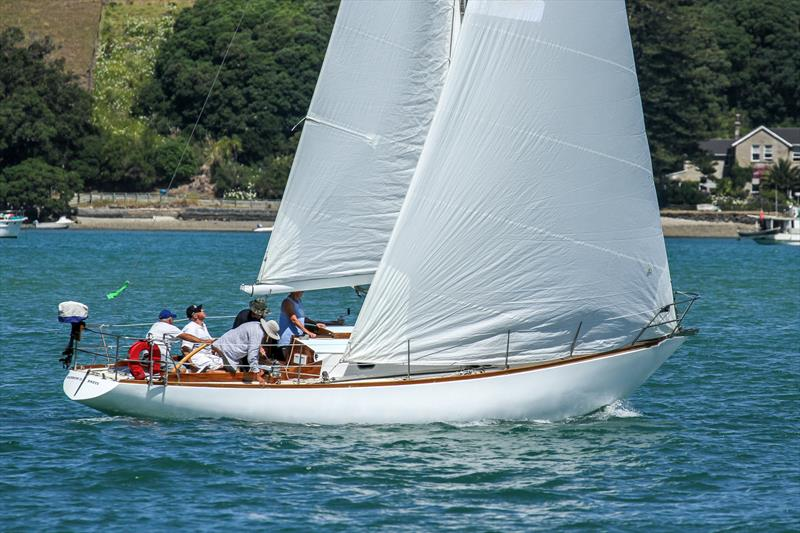 Two Rainbows - Rainbow II, one of New Zealand's sailing icons - winner of the One Ton Cup in 1969 and raced by Chris Bouzaid's  - Leo's son - Mahurangi Regatta - January 2020 - photo © Richard Gladwell / Sail-World.com