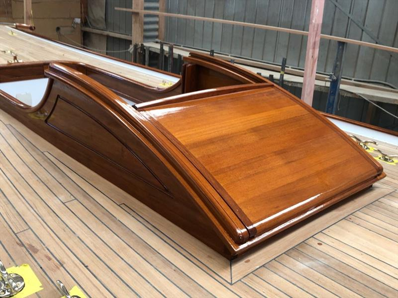 Ida's main hatchway in the traditional style of the day. - photo © Classic Yacht Charitable Trust