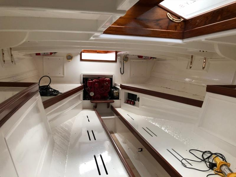 Ida - interior reflects the original with a contemporary update. - photo © Classic Yacht Charitable Trust
