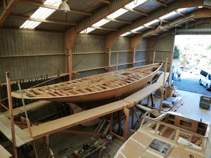 Ida - Scoping the companionway hatch - June 2019 - photo © Classic Yacht Charitable Trust