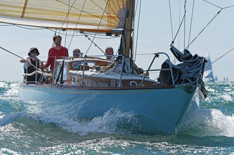 RORC Race the Wight IRC Four was won by Giovanni Belgrano's classic sloop Whooper.  - photo © Rick Tomlinson