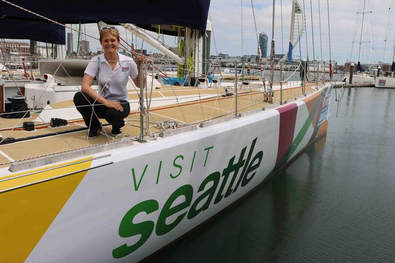 Clipper Race Skipper Nikki Henderson on the Visit Seattle yacht - photo © Clipper Ventures