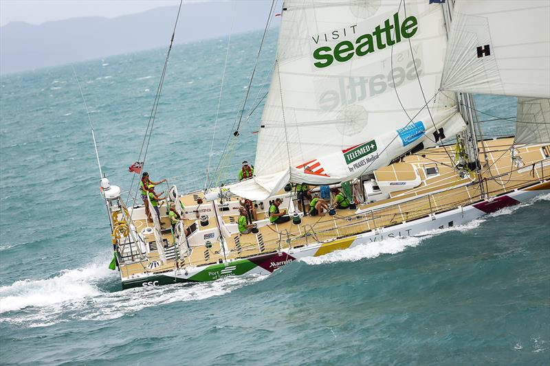 Nikki Henderson leads Visit Seattle - Clipper Round the World Yacht Race - All-Australian Leg 4 - photo © Brooke Miles Photography