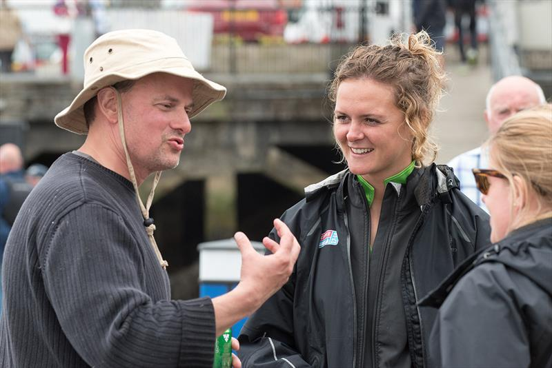 Clipper 2017-18 Round the World Yacht Race - Ralph Morton from the Seattle Sports Commission and Visit Seattle Skipper Nikki Henderson. - photo © Martin McKeown