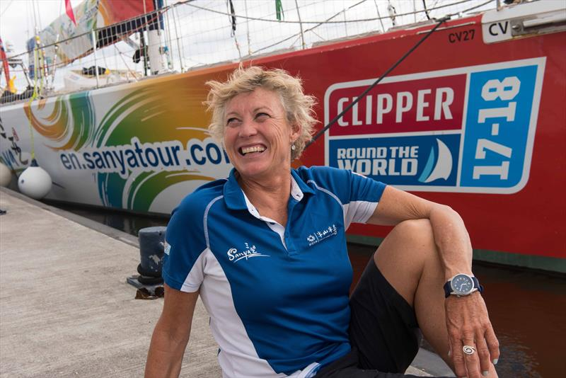 Wendy Tuck is the skipper of the Sanya Serenity Coast Clipper team - photo © Martin McKeown