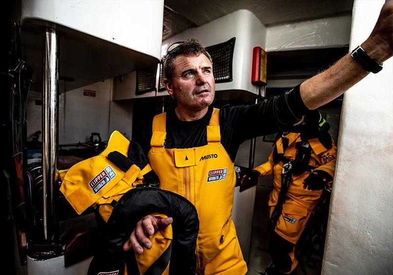 Clipper Round the World Yacht Race crew at work - photo © Image Comms