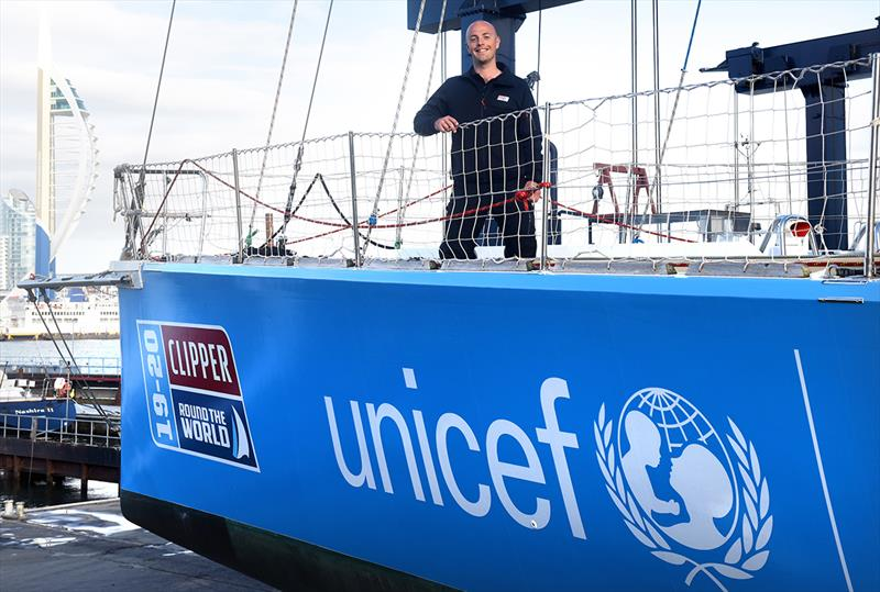 Ian Wiggin aboard the newly branded Unicef UK Yacht - Clipper Round the World Yacht Race - photo © Clipper Race
