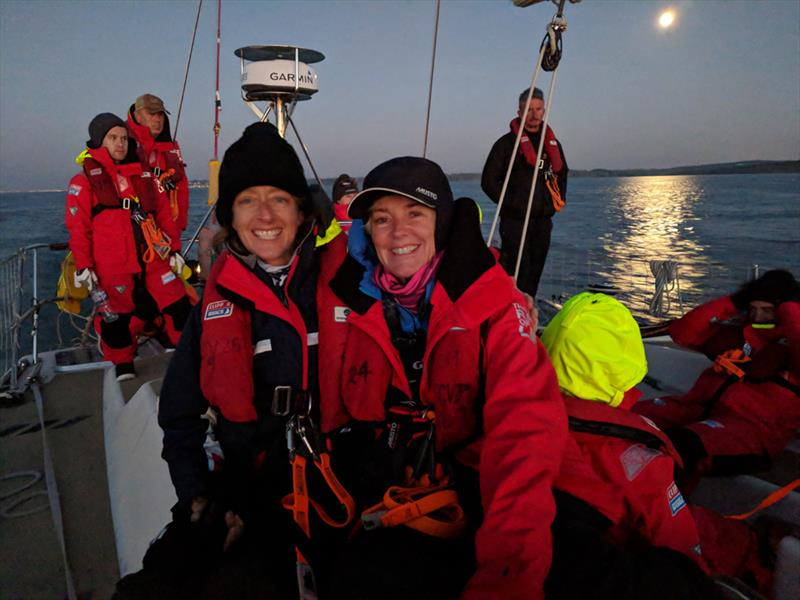 Clipper 2019-20 Race - Becky (right) with fellow Clipper Race Crew during training  photo copyright Clipper Race taken at  and featuring the Clipper 70 class