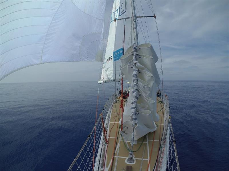 The Clipper Race Leg 1 - Race 2, Day 2: Light winds split the fleet