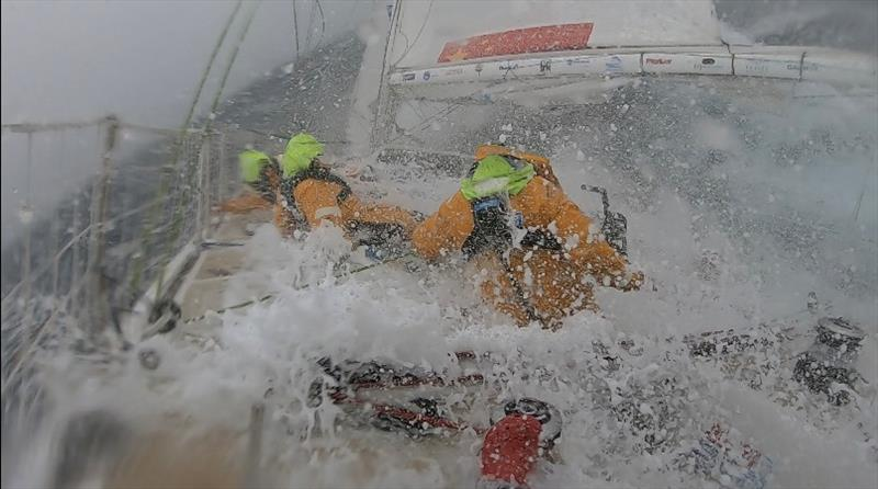 Conditions captured on board Qingdao during Race 4 - Clipper 2019-20 Race - photo © Clipper Ventures