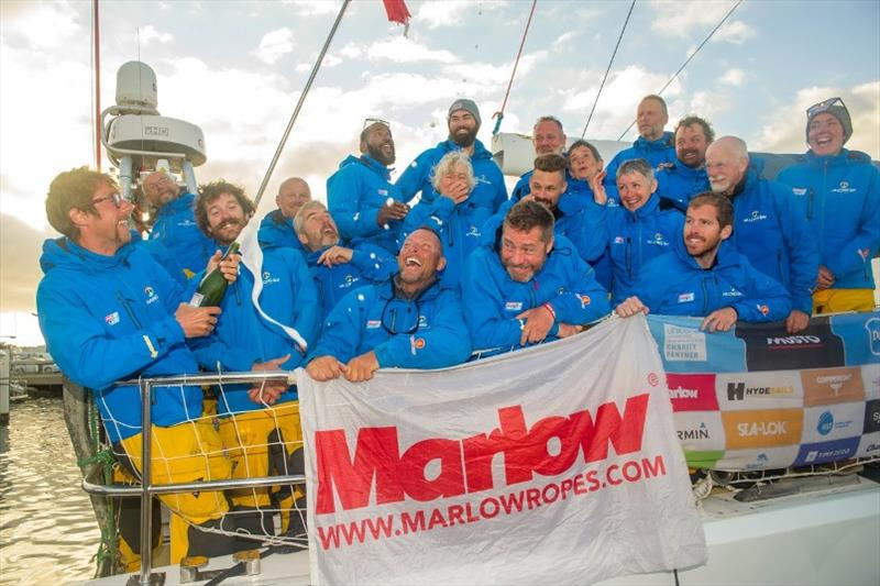 Ha Long Bay, Viet Nam celebrates second place in Race 4: The Marlow Southern Ocean Sleigh Ride - Clipper 2019-20 Race - photo © Clipper Ventures