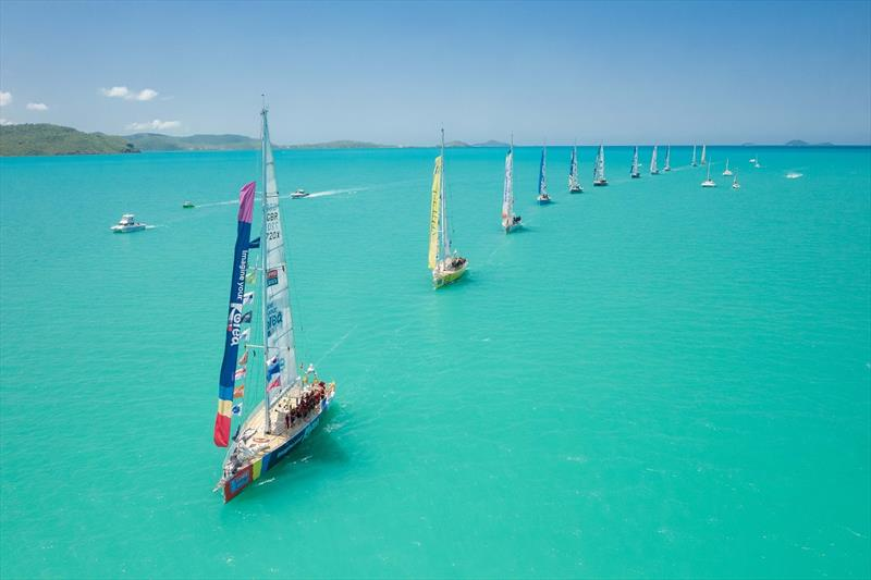 Clipper Race fleet in Whitsunday ahead of Race 6 start - 2019-20 Clipper Race  - photo © Phill Gordon