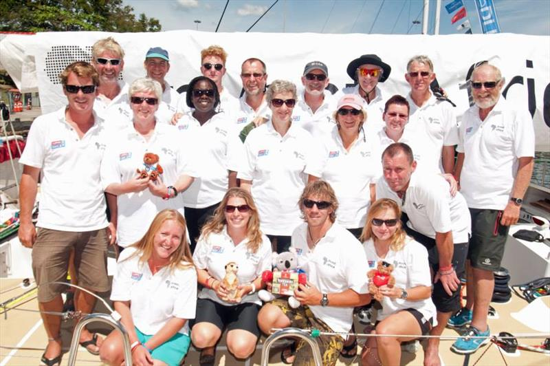 Craig and some of the Invest Africa crew during his Clipper 2013-14 Race circumnavigation - Can't forget the Yorkshire Tea! - photo © Clipper Race