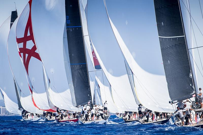 ClubSwan 50 fleet sailing today on the Bay of Palma - 38 Copa del Rey MAPFRE - photo © María Muiña / Copa del Rey MAPFRE