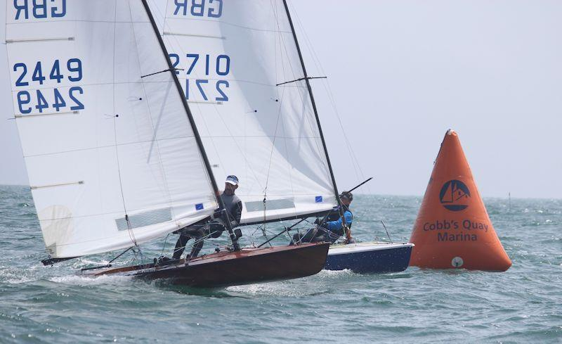 Rob Smith and Gary Langdown at the leeward mark in the Contender Southern Championship at Highcliffe - photo © Sarah Desjonqueres