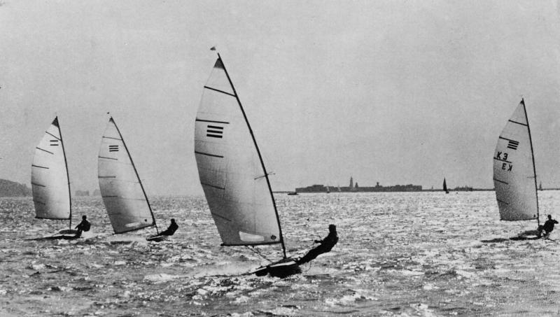 The first UK open meeting for the new Contender class, held at Lymington in 1969 - photo © Gale