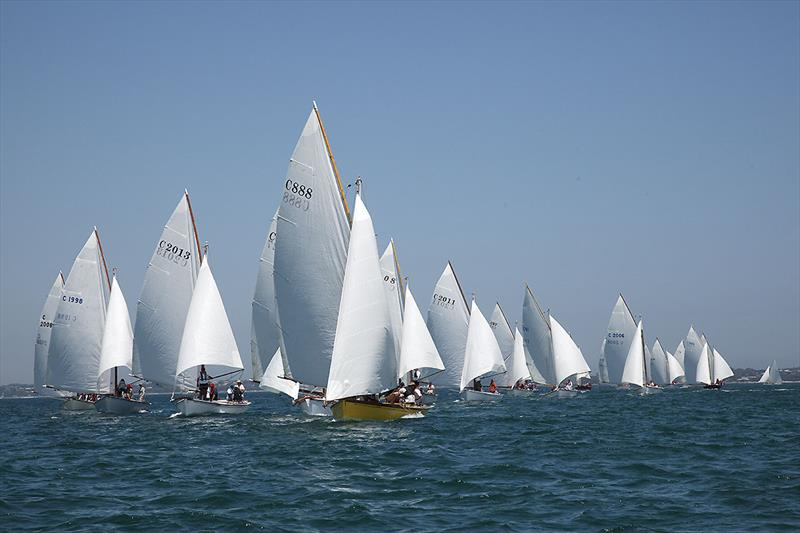 Division One as they make there way to the bottom mark for the first time. What a fleet - photo © A.J. McKinnon