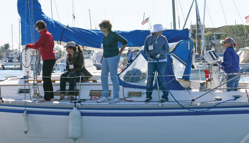 Students mastering docking at the Sailing Convention for Women - photo © Image courtesy of the Sailing Convention for Women