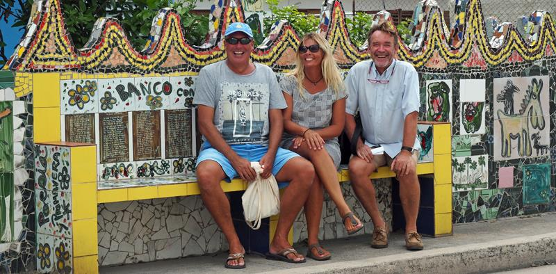 Havana Cruising - Even the bus stops are decorated - with Andrew & Caroline from SV Askari - photo © SV Crystal Blues