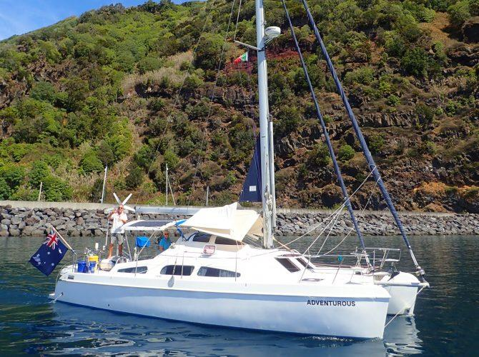 Mary and David's Sprout 37, my buddy boat while I sailed solo across the Atlantic. - photo © Rod Morris