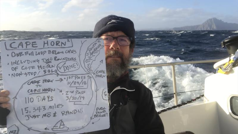 Randall Reeves rounds Cape Horn for a second time aboard Moli - photo © Image courtesy of Randall Reeves