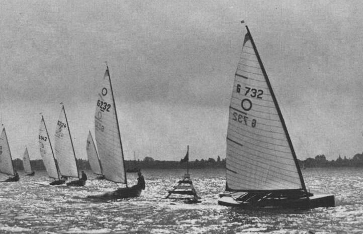 The O-Jolle or Olympic MonoType dinghy was a narrow, heavy but successful class that was used in the 1936 Regatta - photo © Henshall Archive