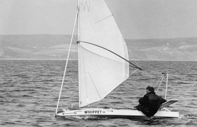 Reg Bratt's Whippet sailing at Weymouth  photo copyright David Thomas taken at  and featuring the Classic & Vintage Dinghy class