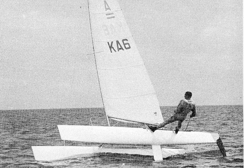 The Australis or A-Cat II was probably years ahead of it's time and also benefited from a better rig than the close competitors. It was also well sailed and was the right boat when the political horse trading started post the Trials - photo © A Class Cat
