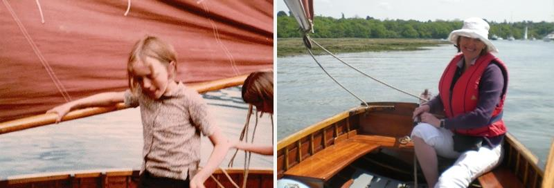 Sophie Neville, Swallows and Amazons actress, then and now - photo © Daphne Neville / Magnus Smith