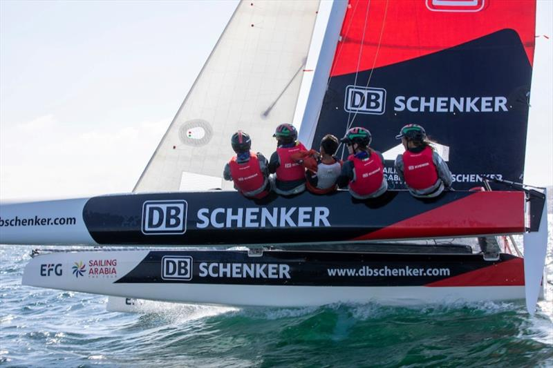 Team DB Schenker - 2020 EFG Sailing Arabia - The Tour photo copyright Sander van der Borch / Oman Sail taken at Oman Sail and featuring the Diam 24OD class
