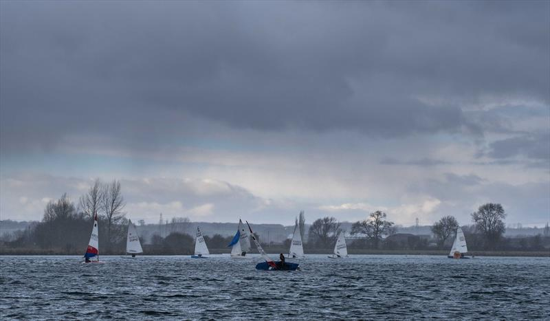 Squall during the fourth race at the Notts County Cooler 2019 photo copyright David Eberlin taken at Notts County Sailing Club and featuring the Dinghy class