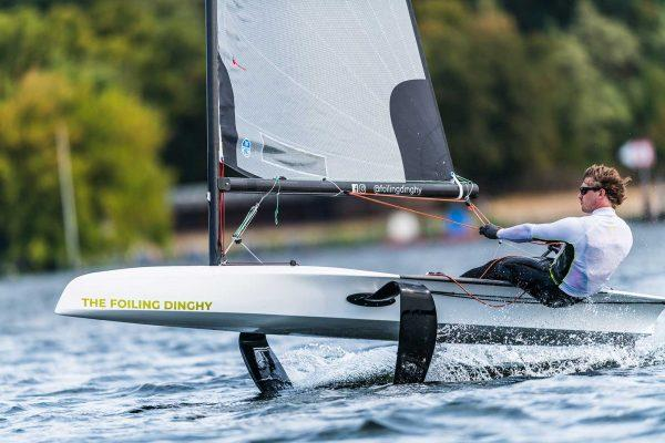 Launched in the UK at the RYA Dinghy Show, the tagline for 'The Foiling Dinghy' is that it does what is says on the box without the steep learning curve that other foilers can present - photo © The Foiling Dinghy