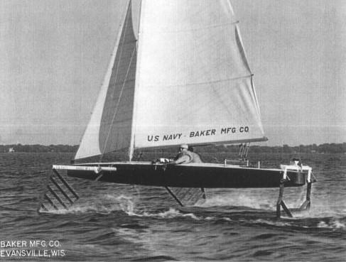 For the second time in less than 100 years a boat called Monitor would effectively 'change the game'. In this case it would be John Baker's well thought out hydrofoil which didn't just fly, but continued to do so when turning the corners - photo © Baker Water System