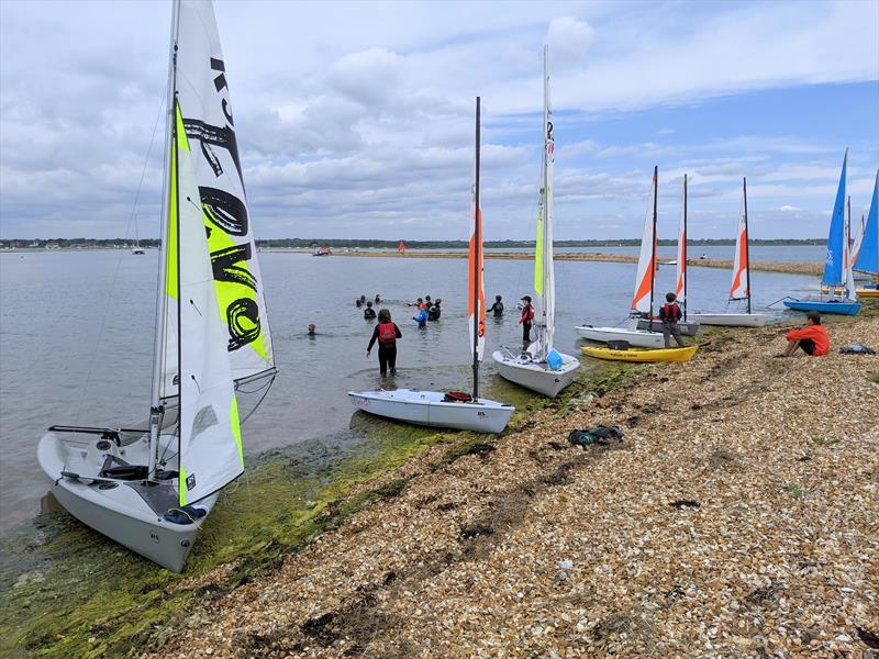 Fun with water pistols for the juniors at Keyhaven - photo © Mark Jardine