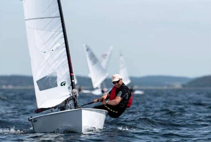 Runner-up Bo Petersen at the OK Dinghy Nordic Championship photo copyright Joel Hernestål, Spline AB taken at SS Kaparen and featuring the Dinghy class